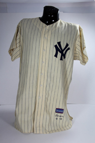 Don Larsen's game worn uniform from the 1956 World Series Game 5 Perfect Game will be up for auction beginning October 8, 2012.